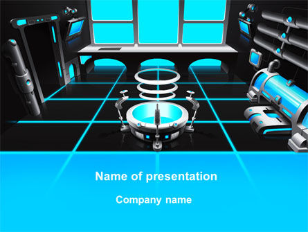 Technology and Science: Cabin Space Ship PowerPoint Template #10135