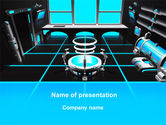 Technology and Science: Cabin Ruimteschip PowerPoint Template #10135