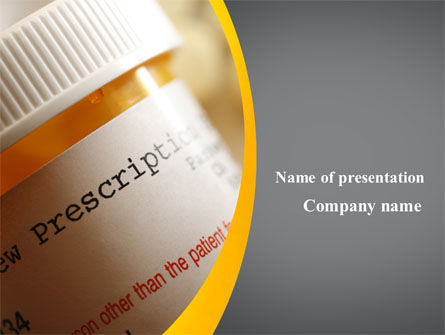 Medical: Prescription Pills PowerPoint Template #10136