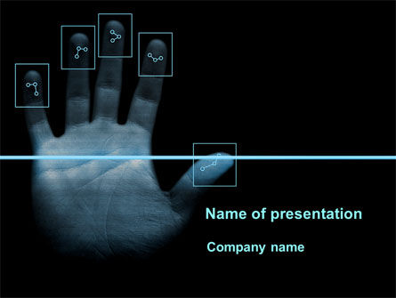Digital Fingerprinting PowerPoint Template, 10137, Legal — PoweredTemplate.com