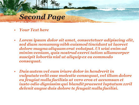 Vacation on Ocean Coast PowerPoint Template, Slide 2, 10139, Nature & Environment — PoweredTemplate.com