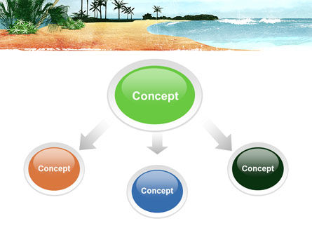 Vacation on Ocean Coast PowerPoint Template, Slide 4, 10139, Nature & Environment — PoweredTemplate.com