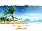 Nature & Environment: Vacation on Ocean Coast PowerPoint Template #10139