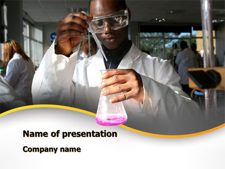 Chemical Engineering PowerPoint Template, 10142, Education & Training — PoweredTemplate.com