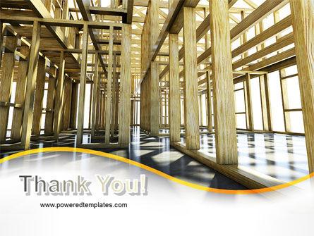 Wooden House Framework PowerPoint Template Slide 20