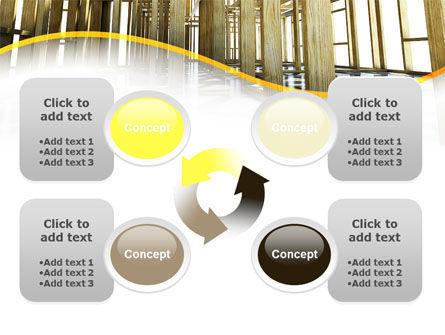 Wooden House Framework PowerPoint Template Slide 9