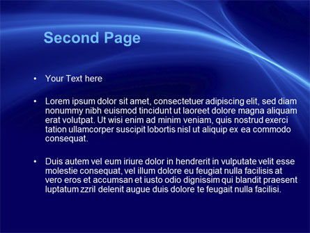 Blue Waves PowerPoint Template Slide 2