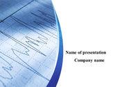 Medical: Cardiogram Van Het Hart PowerPoint Template #10150