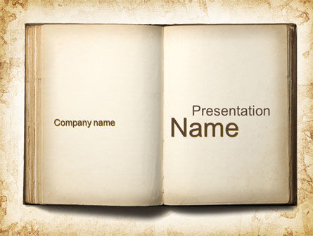 Old Book PowerPoint Template, 10151, Education & Training — PoweredTemplate.com