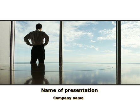 Business Concepts: Thinking of Future PowerPoint Template #10154