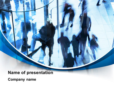 People: People in a Hurry PowerPoint Template #10156