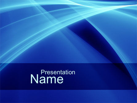 Intersecting Blue Surfaces PowerPoint Template