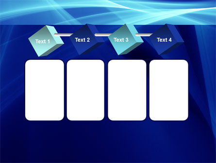 Intersecting Blue Surfaces PowerPoint Template Slide 18