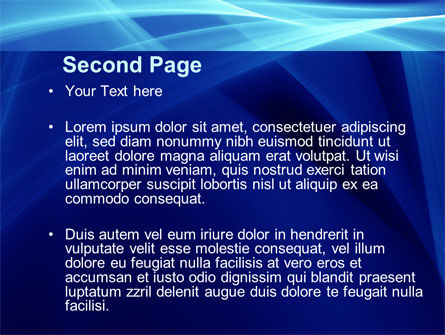 Intersecting Blue Surfaces PowerPoint Template Slide 2