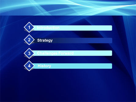 Intersecting Blue Surfaces PowerPoint Template Slide 3