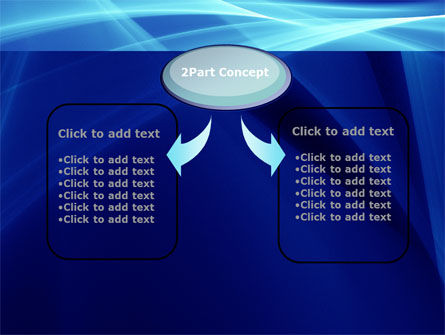 Intersecting Blue Surfaces PowerPoint Template Slide 4