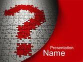 Consulting: Question in Puzzle PowerPoint Template #10160