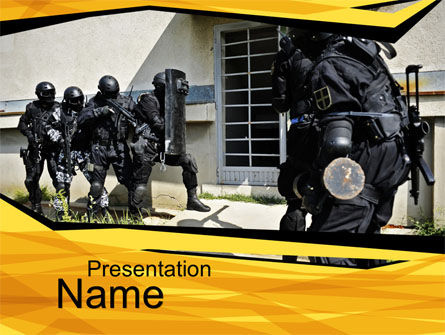 Release of Hostages PowerPoint Template, 10163, Military — PoweredTemplate.com