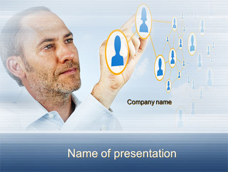 Technology and Science: Creating Social Network PowerPoint Template #10164