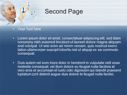 Creating Social Network PowerPoint Template, Slide 2, 10164, Technology and Science — PoweredTemplate.com