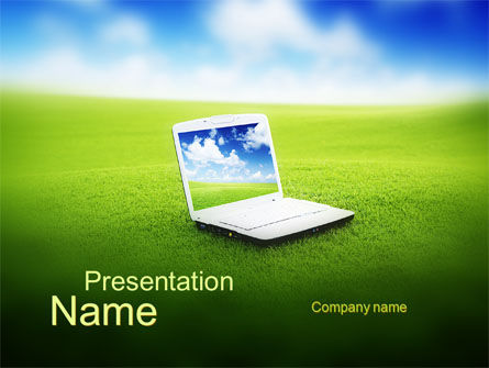 Ecology Computer PowerPoint Template, 10166, Computers — PoweredTemplate.com