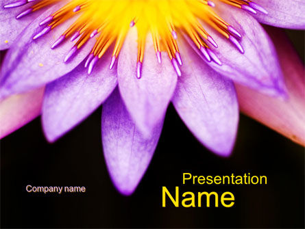 Nature & Environment: Blühende blume PowerPoint Vorlage #10167