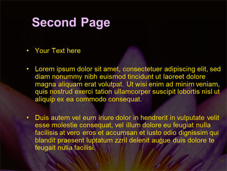 Blossoming Flower PowerPoint Template, Slide 2, 10167, Nature & Environment — PoweredTemplate.com