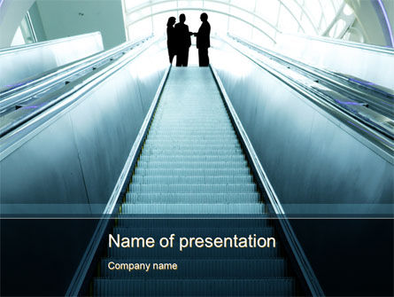 Moving Staircase PowerPoint Template