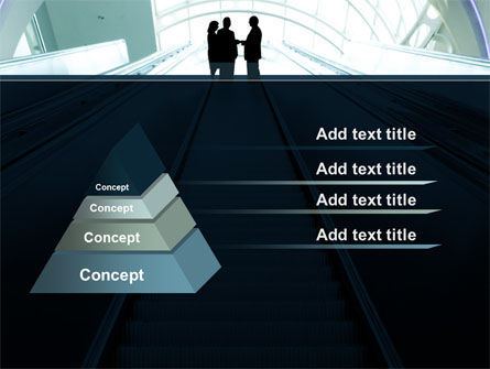 Moving Staircase PowerPoint Template Slide 12