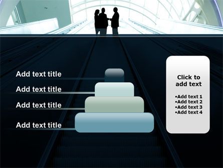 Moving Staircase PowerPoint Template Slide 8