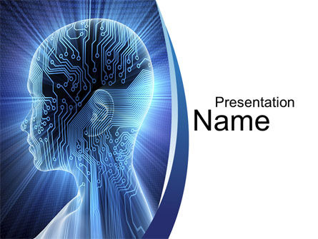 Technology and Science: Cybernetic Silhouet PowerPoint Template #10170