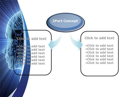 Cybernetic Silhouette PowerPoint Template, Slide 4, 10170, Technology and Science — PoweredTemplate.com