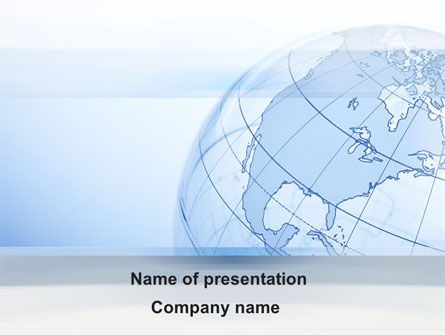 Global: Transparent Globe PowerPoint Template #10173