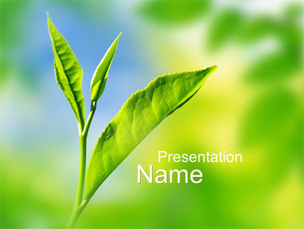 Nature & Environment: Fresh Sprouts PowerPoint Template #10174