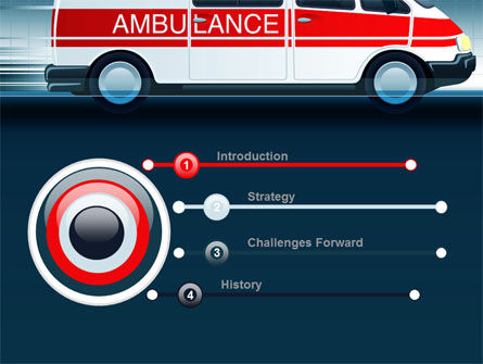 Racing Ambulance PowerPoint Template, Slide 3, 10175, Medical — PoweredTemplate.com