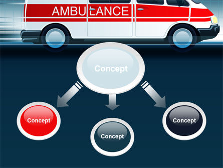 Racing Ambulance PowerPoint Template, Slide 4, 10175, Medical — PoweredTemplate.com