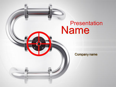Gas Pipeline PowerPoint Template, 10178, Business Concepts — PoweredTemplate.com
