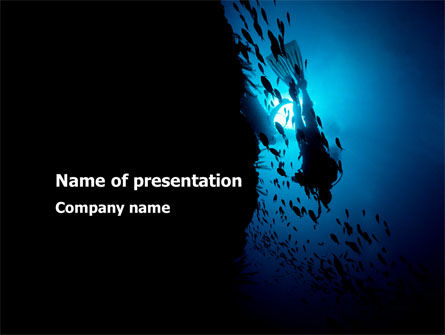 Sports: Diver PowerPoint Template #10179