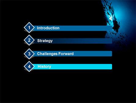 Diver PowerPoint Template, Slide 3, 10179, Sports — PoweredTemplate.com