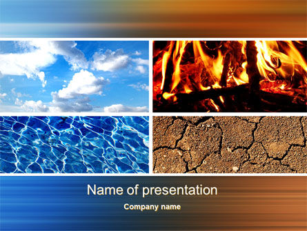 Four Elements PowerPoint Template, 10180, Nature & Environment — PoweredTemplate.com