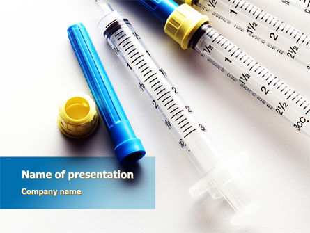 Medical: Syringes PowerPoint Template #10181
