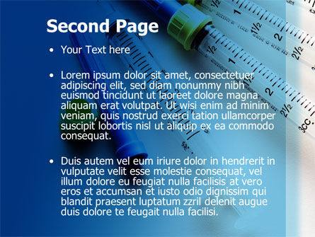 Syringes PowerPoint Template, Slide 2, 10181, Medical — PoweredTemplate.com
