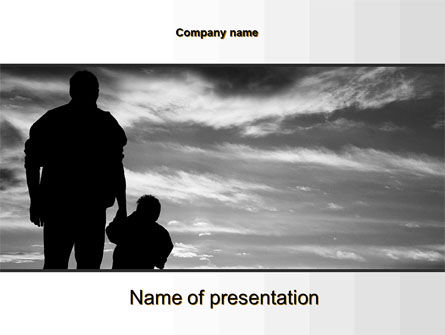 Father PowerPoint Template, 10182, Religious/Spiritual — PoweredTemplate.com