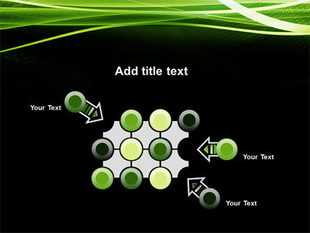 Green on Black PowerPoint Template Slide 10