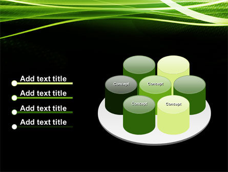Green on Black PowerPoint Template Slide 12