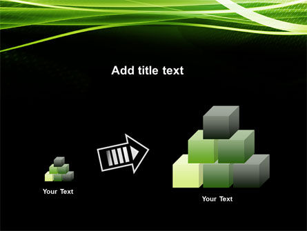 Green on Black PowerPoint Template Slide 13