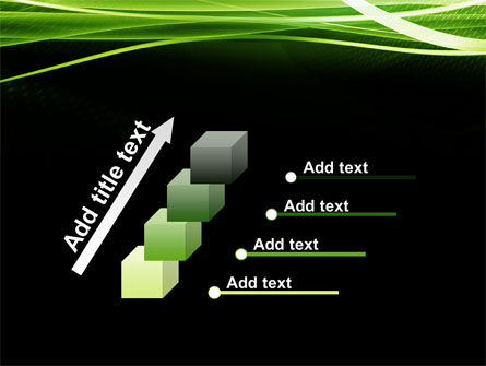 Green on Black PowerPoint Template Slide 14