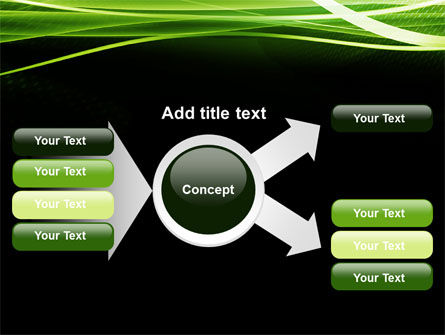Intersected Green on Black PowerPoint Template Slide 15