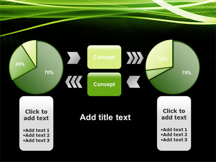 Green on Black PowerPoint Template Slide 16