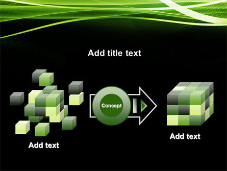 Green on Black PowerPoint Template Slide 17